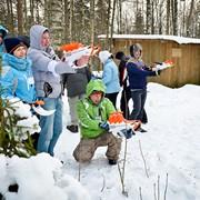 Зимние тимбилдинги фото