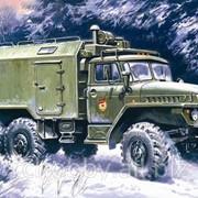 Модель ICM 1/72 Урал 375-А, подвижный командный пункт фото