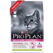 Pro Plan 1.5кг Delicate Сухой корм для взрослых кошек с чувствительным пищеварением Ягненок фото