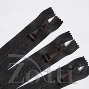 Молния металлическая, №5, черная (т.никель) - 40см фото