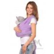 Слинг-шарф трикотажный светло-сиреневый фото