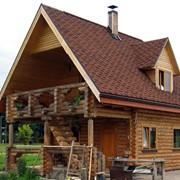Проекты бань, домов и коттеджей, дачных домов, из оцилиндрованного бревна фото