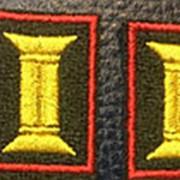 """Петлицы на липе """"Офицерские"""" нового образца (красный кант) фото"""