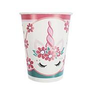 Стаканы бумажные Единорог Pink&Tiffany 200мл 6шт фото