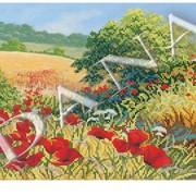 Схема для часткової вишивки бісером Пшеничні лани фото
