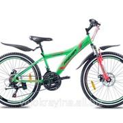 Подростковый горный велосипед Premier Explorer 24 Disc 13 2016 зеленый неон с красным фото