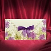 Пригласительные на свадьбу в фиолетовых тонах (арт. 5553) фото