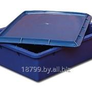 Ящик (лоток) с крышкой, пластиковый, пищевой фото