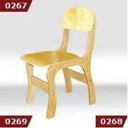 """Купить стул детский фанерный """"Фантазия"""", ростовая группа №3 h=340 мм, Стульчики для детских садов, Код: 0269 фото"""