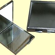 Зеркальце металлическое, квадратное для сублимаций фото