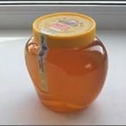 Цветочный мед ПЭТ - банка Сердечко, большая 1л фото