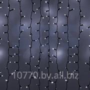 """Гирлянда """"Светодиодный Дождь"""" 2х3м, эффект мерцания, черный провод, 220В, диоды БЕЛЫЕ, NEON-NIGHT фото"""