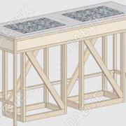 Стол для весов СВ-12, 1470*610*900 антивибрационный, две плиты фото