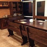 Комплект мебели из массива дерева 3200х1200 фото