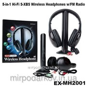 Беспроводные наушники с Микрофоном MH2001 5 в 1 + FM радио DC-2001 фото