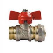 Кран для металлопластиковой трубы 20х3/4Н Аква, арт.10339 фото