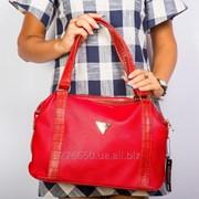 Красная мягкая женская сумка от E&M фото