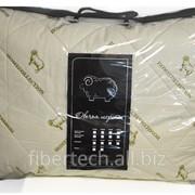 Подушка спальная, наполнитель Овечья шерсть (подстёжка), Лебяжий пух (внутри)