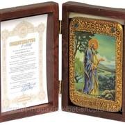 Настольная икона Святой праотец Адам на мореном дубе фото