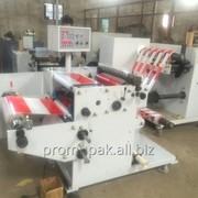Автоматическая бобинорезательная машина PUZBS-500 для самоклеющейся полипропиленовой плёнки, бумаг, пергаментов фото
