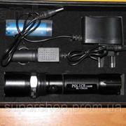 Тактический фонарик Police BL-8626 3000w с линзой Bailong Черный фото