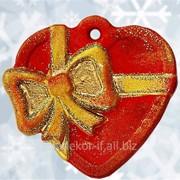 Новогоднее украшение Артикул :ЯП-2014-96, Размер:80х80мм. Сердце фото