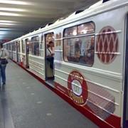 Размещение рекламы в метро Киева Днепропетровска Харькова реклама в вагонах на путевых стенах на всех станциях и во всех вагонах фото