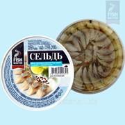 Сельдь атлантическая филе-кусочки в уксусно-масляной заливке с пряностями фото