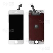 Матрица и тачскрин (сенсорное стекло) в сборе для смартфона Apple iPhone 5S, белый цвет фото