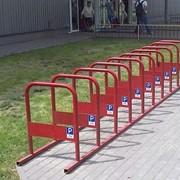 Велопарковка металлическая фото