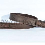 Ремень ружейный Ретро прямой, коричневый (кожа) фото