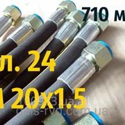 РВД с гайкой под ключ S24, М 20х1,5, длина 710мм, 1SN рукав высокого давления фото