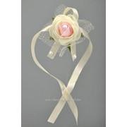 Цветок на руку, айвори/розовый (роза) фото