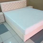 Изготовление кроватей с тумбочками,кровать с тумбочками АМУР,изготовление мебели для спальни,изготовление спального набора,изготовление спальни из кожи,изготовление спальни под размеры заказчика,изготовление тумбочек и комодов под размеры заказчика фото