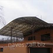 Кованый навес терассы поликарбонат Sunlite Германия 10мм бронза фото