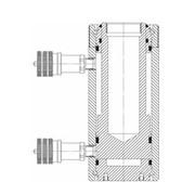 Домкрат (цилиндр) силовой с гидравлическим возвратом штока фото