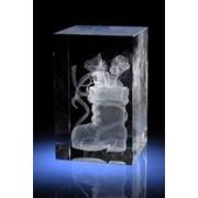 Сувенирный кристалл Сапожок с подарками фото