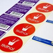 Этикетки самоклеящиеся для пищевой промишлености фото