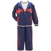 Стильный костюм синего цвета для мальчика 10 фото