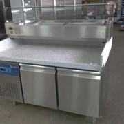 Стол холодильный для пиццы, с гранитной столешницей, CustomCool, США фото
