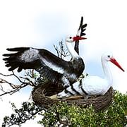 Фигура Гнездо с аистами 07732 фото