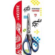 """Ножницы deVente""""Tattoo"""" 19 см., чёрн-син., прорезиненые, европодвес, 4091801 фото"""