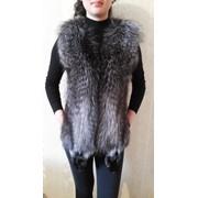 Меховая жилетка, чернобурка фото