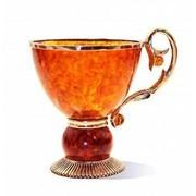 """Чашка чайная янтарная """"Саламандра"""" из янтаря HD7002 фото"""