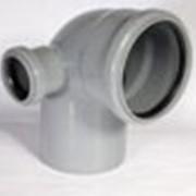 Отвод для канализационных 110-50прав фото