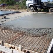 Товарный бетон на известняковом щебне фото