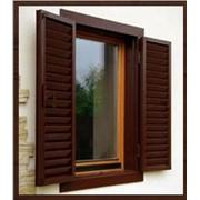 Окно деревянное со стеклопакетом фото