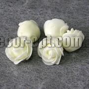 Голова ванильных роз d 3-3,5см из латекса/1 шт 276 фото