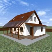 Двухэтажный мансардный каркасный дом Капучино фото