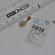 Подавеска серебряная позолоченная с фианитами Арт ПК3Ф/470, вес 1,70 гр фото
